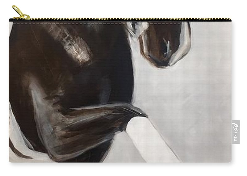 Horse Carry-all Pouch featuring the painting Punch by Melissa Broadbent