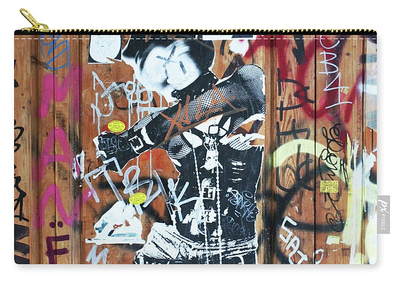 City Carry-all Pouch featuring the painting Punk by Roger Muntes