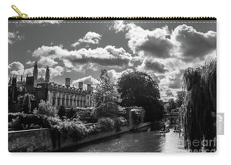 Punting Carry-all Pouch featuring the photograph Punting, Cambridge. by Nigel Dudson