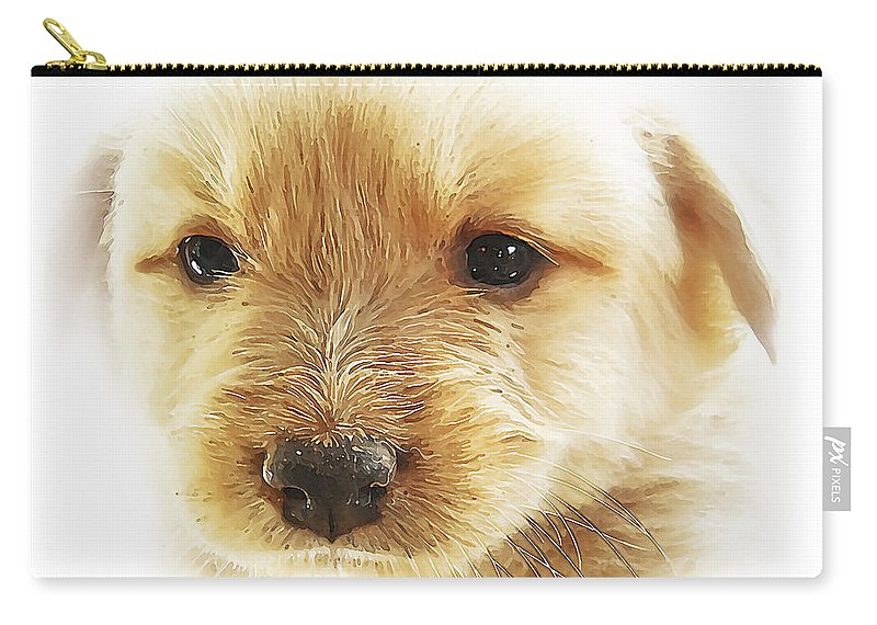 3d Carry-all Pouch featuring the photograph Puppy Art by Svetlana Sewell