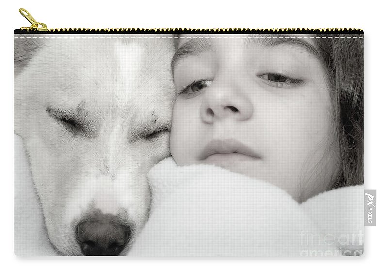 Psi Carry-all Pouch featuring the photograph Puppy Love by Ofer Zilberstein