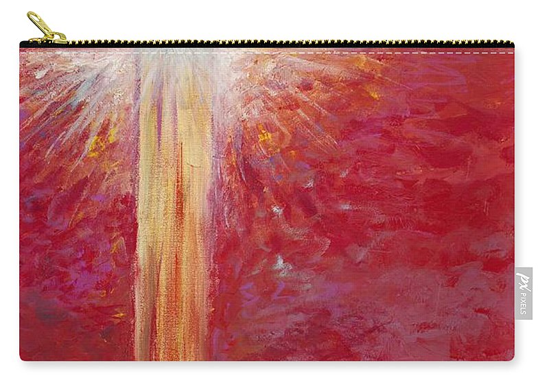 Light Carry-all Pouch featuring the painting Pure Light by Nadine Rippelmeyer