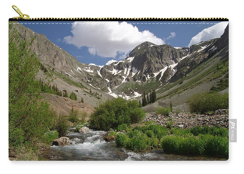 Trees Carry-all Pouch featuring the photograph Pure Mountain Beauty by Carol Milisen