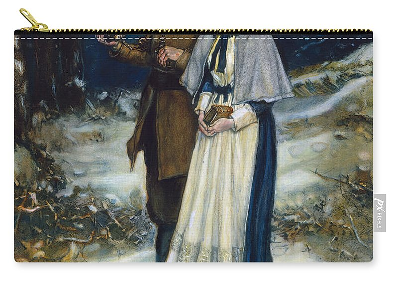 17th Century Carry-all Pouch featuring the photograph Puritans Going To Church by Granger