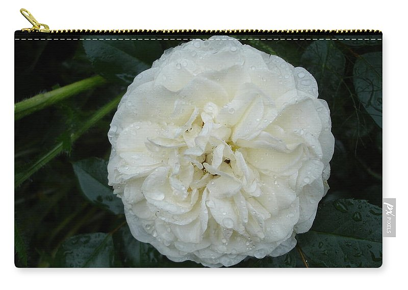 Rose Carry-all Pouch featuring the photograph Purity And Perfection by Susan Baker