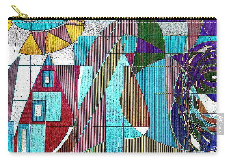 Purple Carry-all Pouch featuring the digital art Purple and Blue by Ian MacDonald