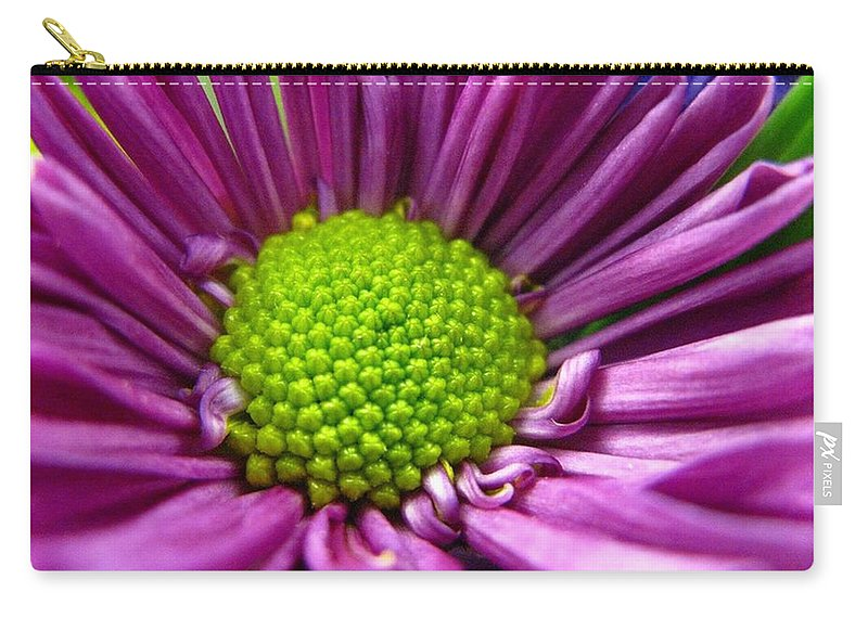 Flower Carry-all Pouch featuring the photograph Purple And Green by Rhonda Barrett