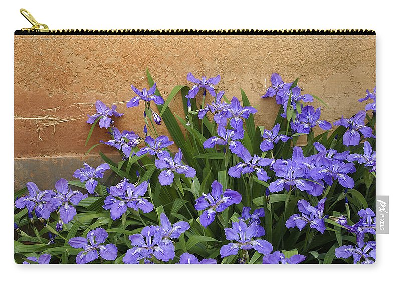 Flowers Carry-all Pouch featuring the photograph Purple And Orange by Michele Burgess