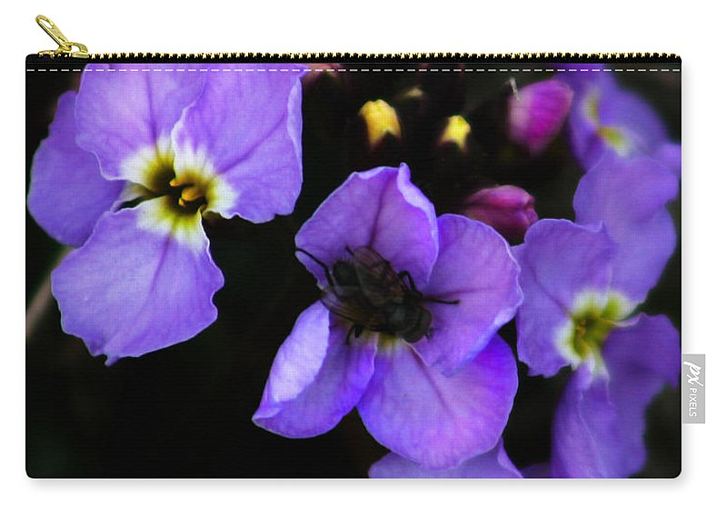 Flowers Carry-all Pouch featuring the photograph Purple Arctic Wild Flowers by Anthony Jones