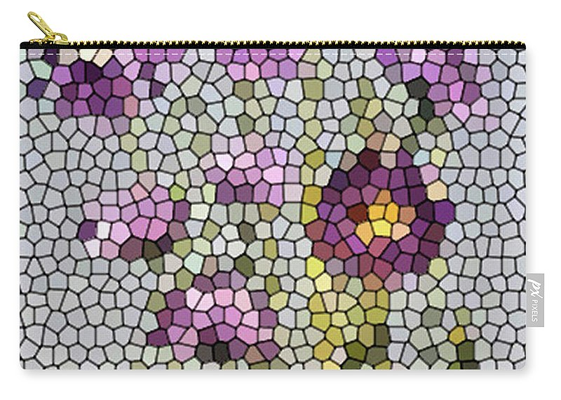 Digital Photo Carry-all Pouch featuring the digital art Purple Asters II by Barbara Griffin