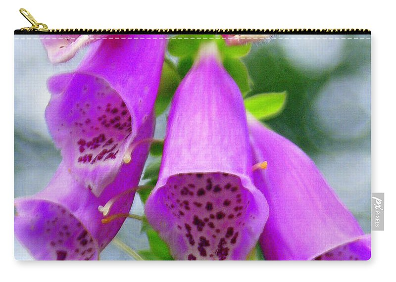 Flowers Carry-all Pouch featuring the photograph Purple Bells by Marty Koch