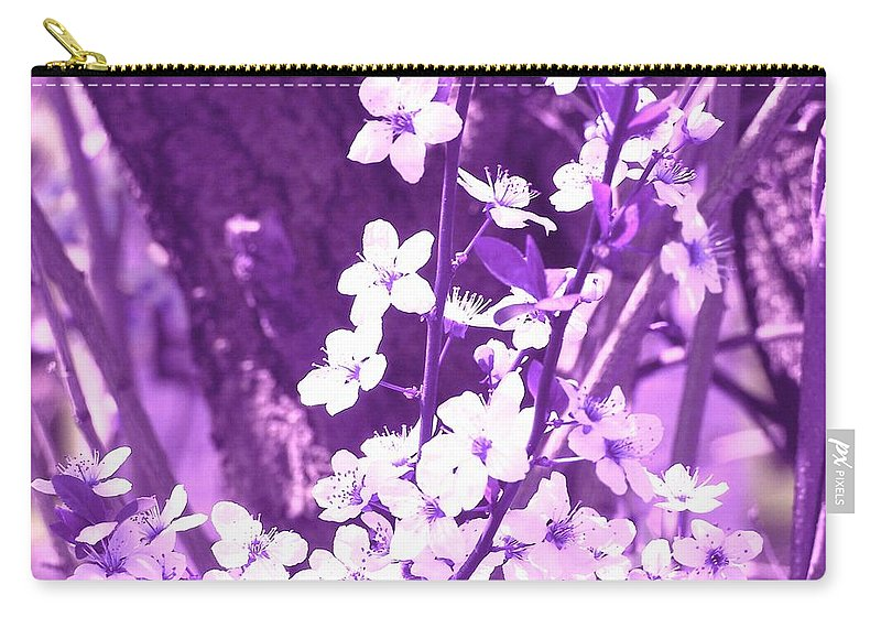 Purple Carry-all Pouch featuring the photograph Purple Blossoms by Tommy Carhart