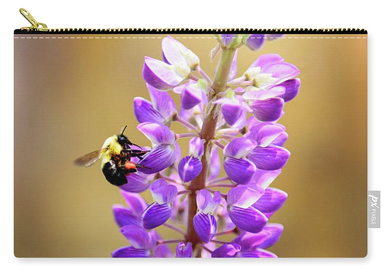 Spring Carry-all Pouch featuring the photograph Purple Buzz by Anna Serebryanik