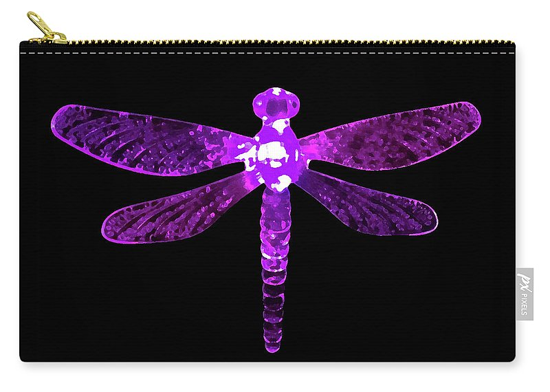 Purple Dragonfly Carry-all Pouch