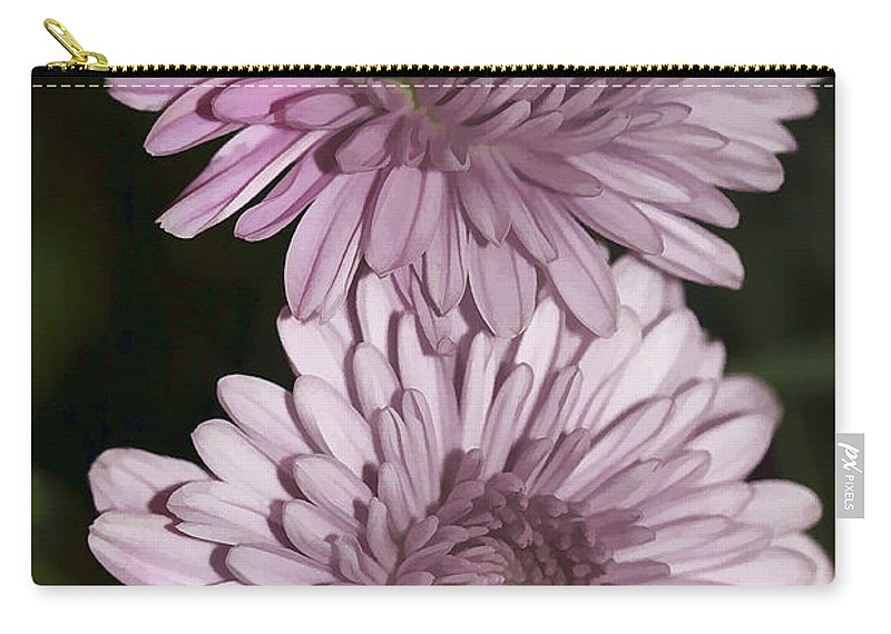 Flowers Carry-all Pouch featuring the photograph Purple Duo by Deborah Benoit