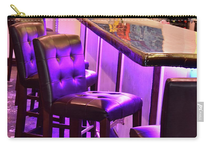 Purple Carry-all Pouch featuring the photograph Purple Electric by Lisa Renee Ludlum