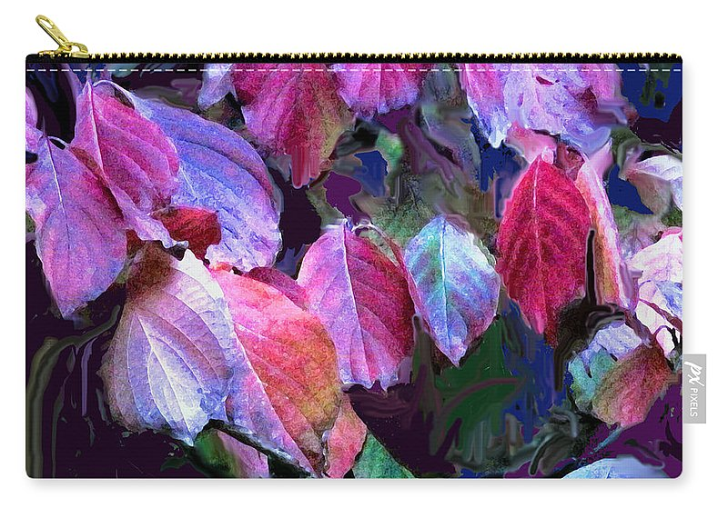 Leaves Carry-all Pouch featuring the photograph Purple Fall Leaves by Ian MacDonald
