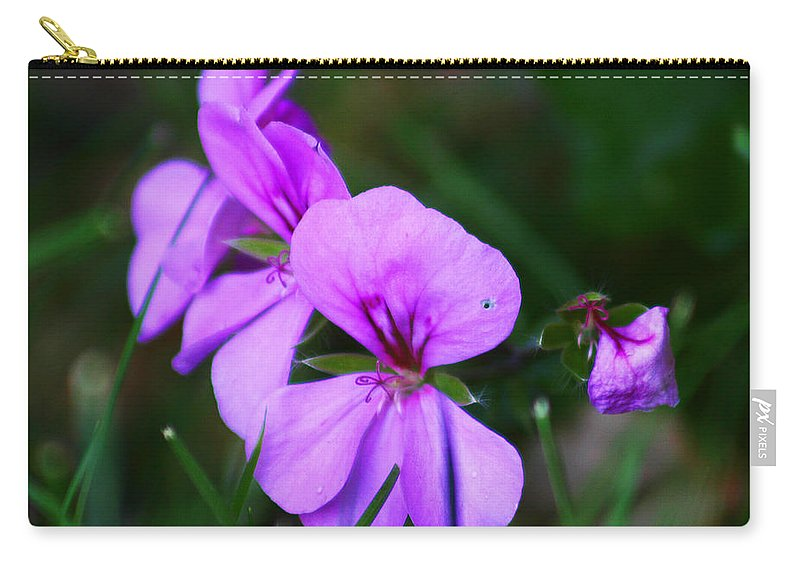 Flowers Carry-all Pouch featuring the photograph Purple Flowers by Anthony Jones