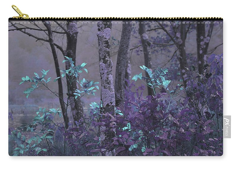 Forest Carry-all Pouch featuring the photograph Purple Forest by Karol Livote