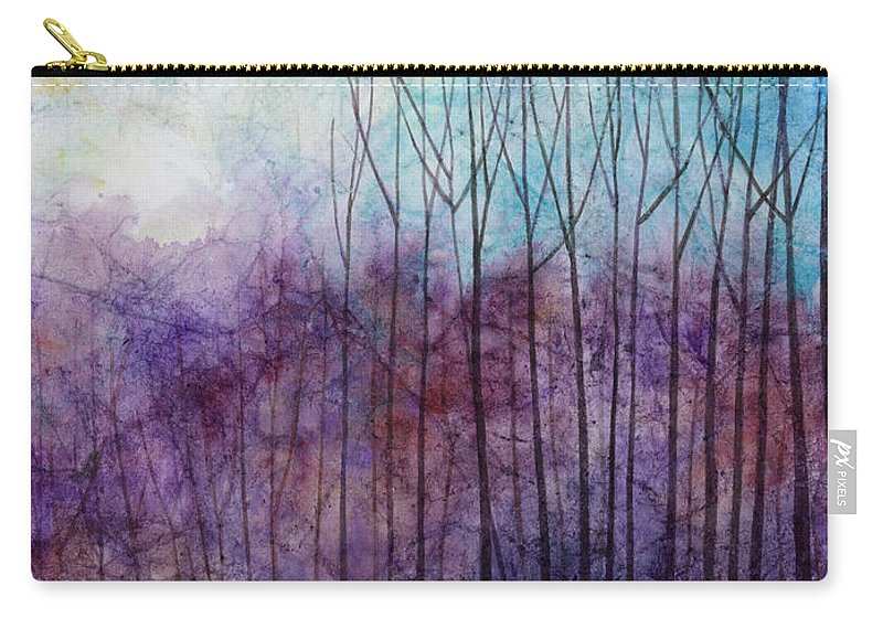 Purple Carry-all Pouch featuring the painting Purple Haze by Hailey E Herrera