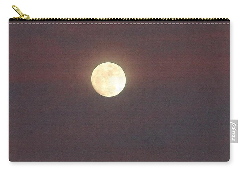 Full Moon Carry-all Pouch featuring the photograph Purple Haze Howl by Pattie Frost