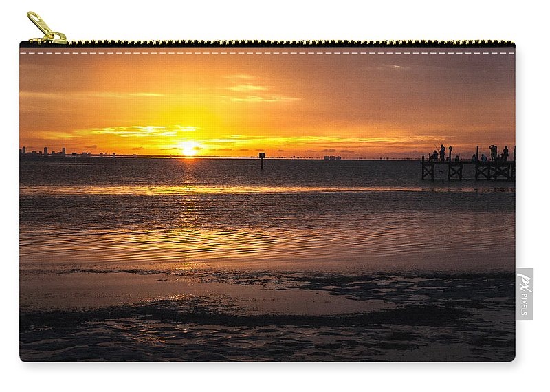 Sunset Carry-all Pouch featuring the photograph Purple Haze by Norman Johnson