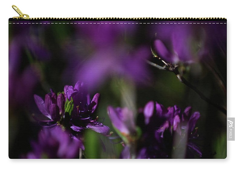 floral Beauty Carry-all Pouch featuring the photograph Purple Haze by Paul Mangold