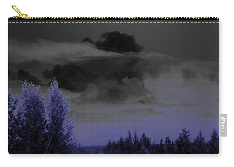 Abstract Carry-all Pouch featuring the photograph Purple Haze by Ron Bissett