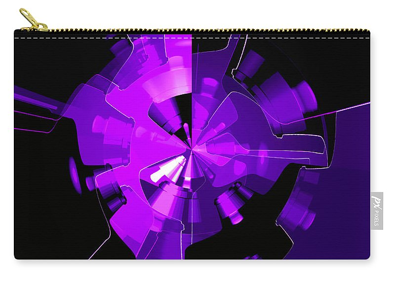 Purple Carry-all Pouch featuring the digital art Purple Haze Wheels by Digital Painting