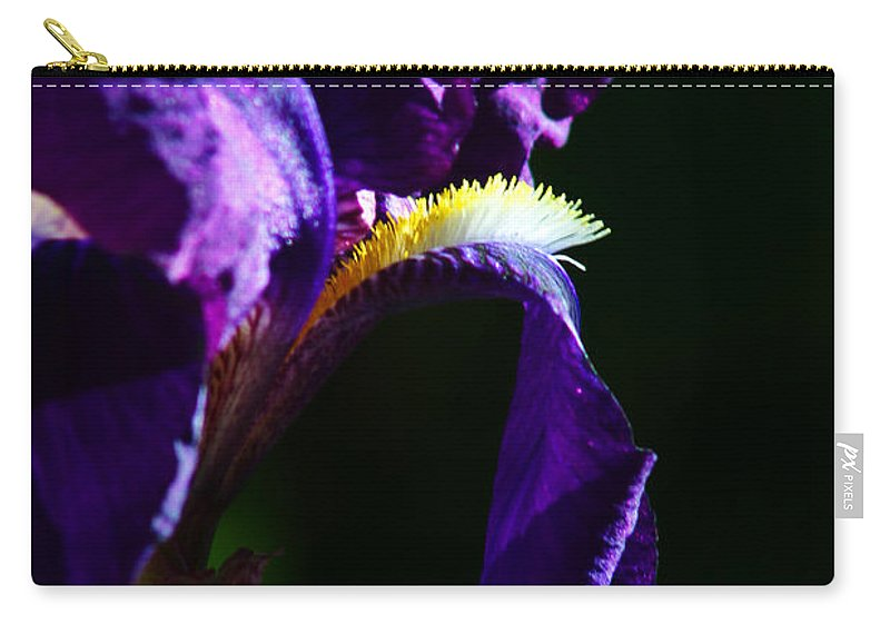 Flower Carry-all Pouch featuring the photograph Purple Iris 2 by Anthony Jones