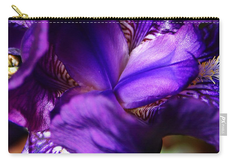 Carry-all Pouch featuring the photograph Purple Iris by Anthony Jones