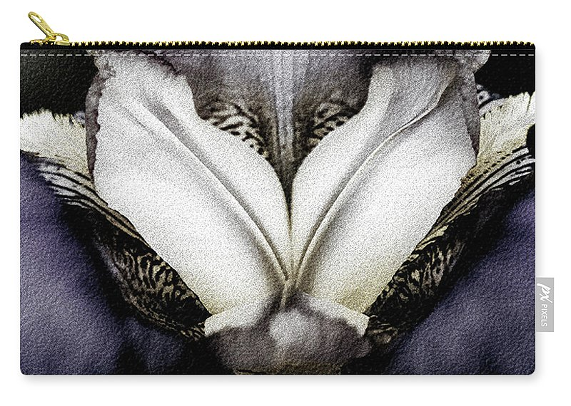 Iris Carry-all Pouch featuring the photograph Purple Iris by Herman Robert