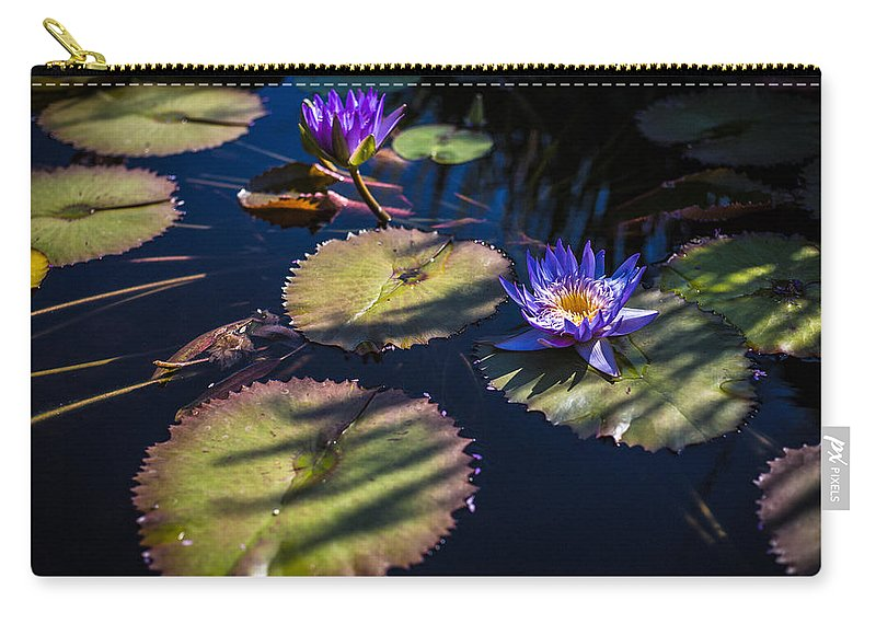 Flowers Carry-all Pouch featuring the photograph Purple Lily by Jason Roberts
