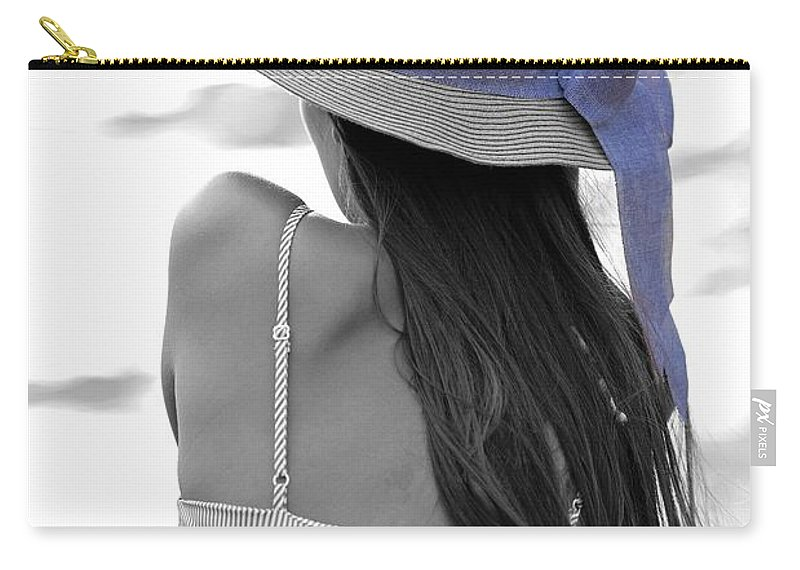 Girl Carry-all Pouch featuring the photograph Purple by Michael Brown
