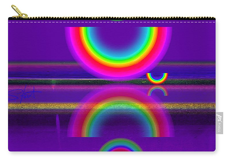 Reflections Carry-all Pouch featuring the painting Purple Moon by Charles Stuart