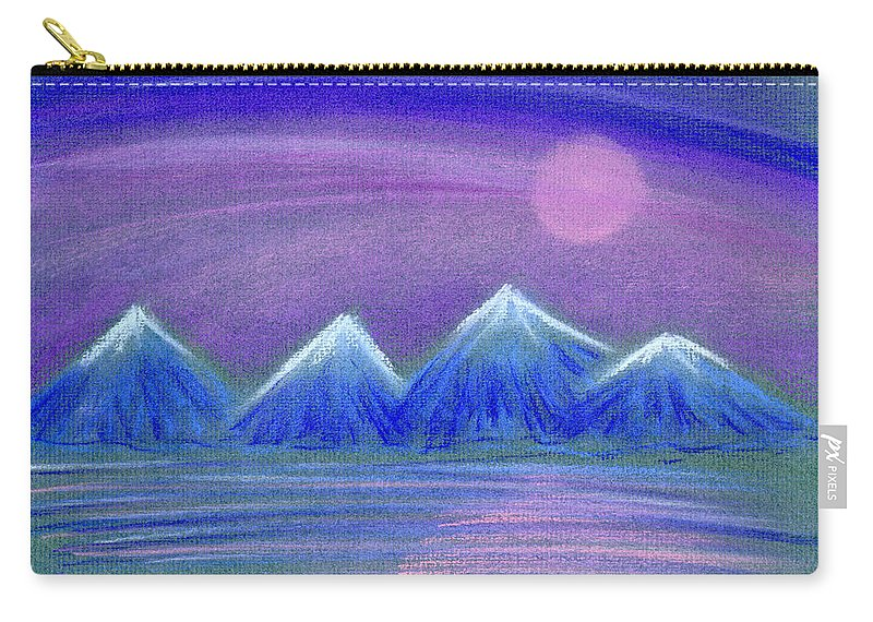 Landscape Carry-all Pouch featuring the painting Purple Night 3 by Hakon Soreide