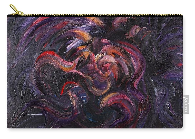 Purple Carry-all Pouch featuring the painting Purple Passion by Nadine Rippelmeyer
