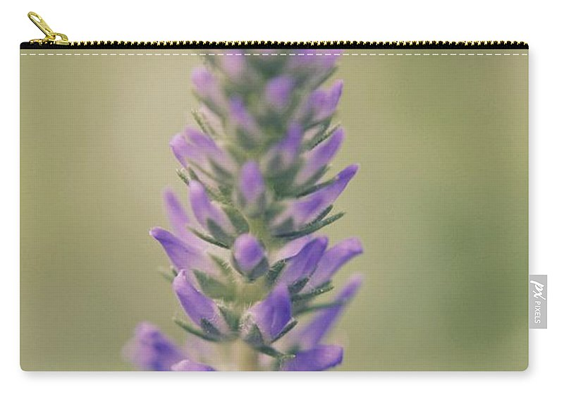 Flower Carry-all Pouch featuring the photograph Purple Perfection by Hannah Goddard-Stuart