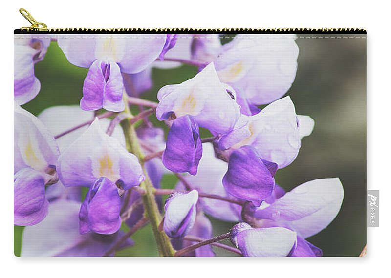 Flowers Carry-all Pouch featuring the photograph Purple Petals by H Roberts Photography