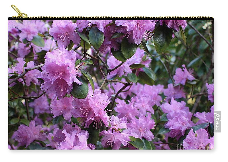 Spring Carry-all Pouch featuring the photograph Purple Rhododendrons by Carol Groenen