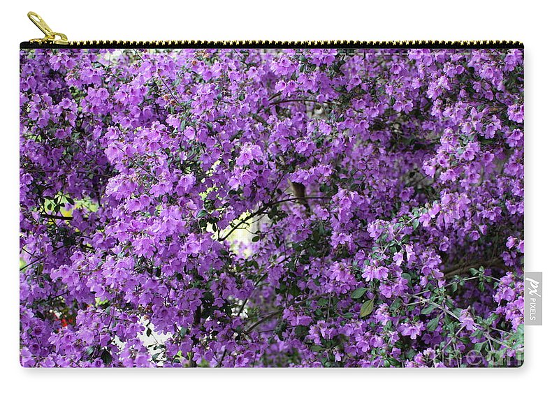 Purple Carry-all Pouch featuring the photograph Purple Screen by Carol Groenen