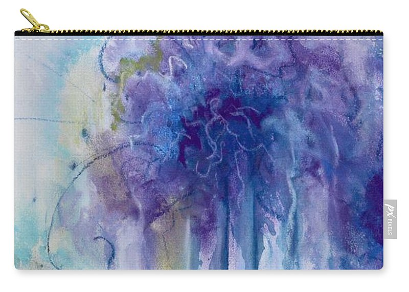 Abstrac Carry-all Pouch featuring the pastel Purple Sofness by Johane Gareau