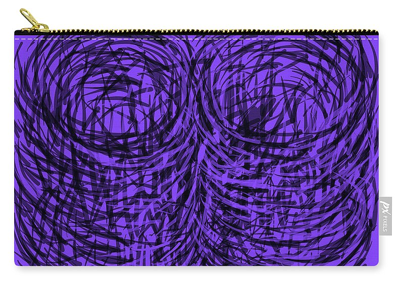 Purple Carry-all Pouch featuring the digital art Purple Swirls by Joe Roache