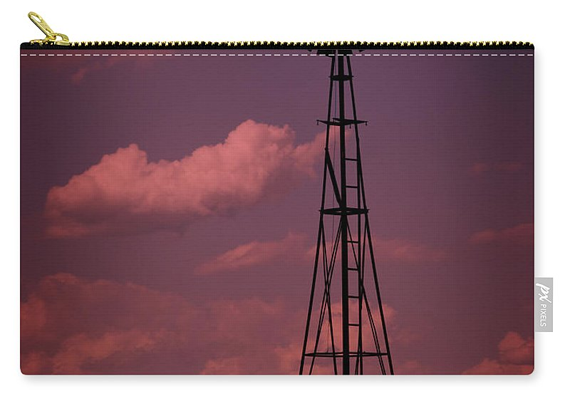 Wind Carry-all Pouch featuring the photograph Purple Wind by Ricky Barnard