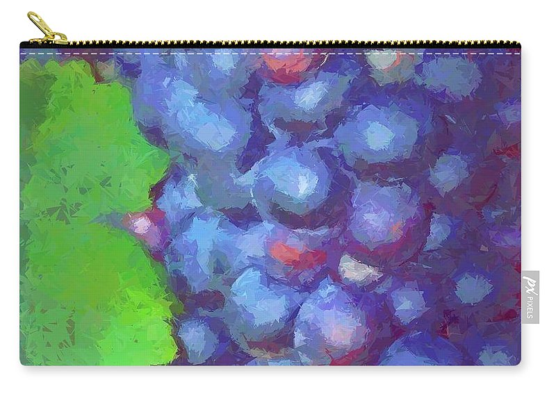 Vineyard Carry-all Pouch featuring the photograph Purple Wine Grapes 2017 by Cathy Lindsey