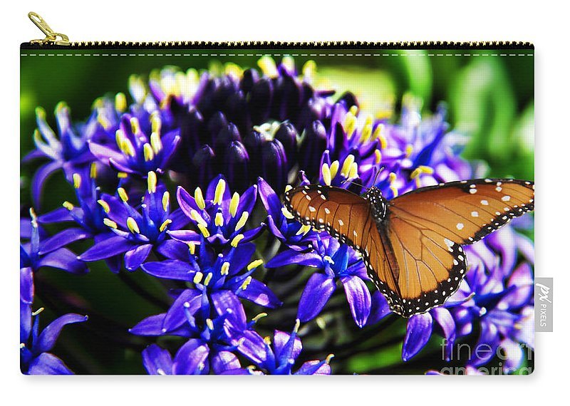 Purple World Carry-all Pouch featuring the photograph Purple World by Mariola Bitner