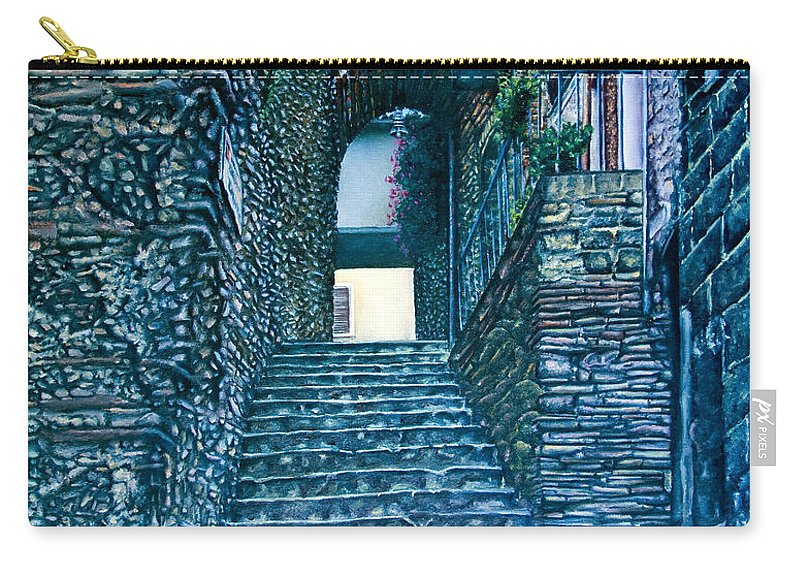 Historic Carry-all Pouch featuring the painting Purplesteps by Michel Angelo Rossi