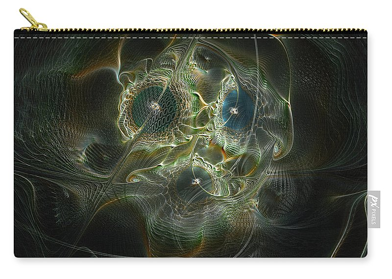 Abstract Carry-all Pouch featuring the digital art Purpose by Casey Kotas