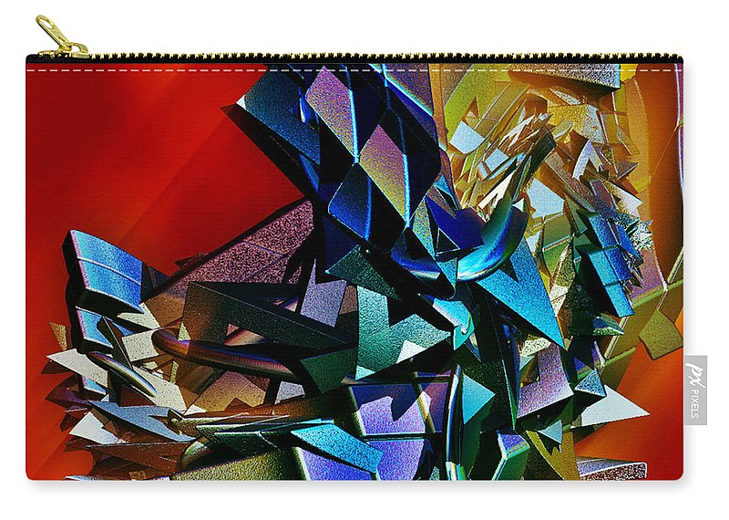 Shapes Carry-all Pouch featuring the digital art Puzzled by Sara Raber