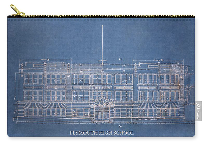 Photo Carry-all Pouch featuring the photograph Pymouth High School by Kriskraf